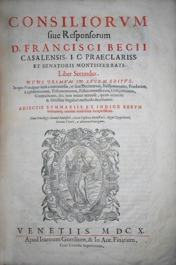 Beccio, Consilia sive Responsa, 1610