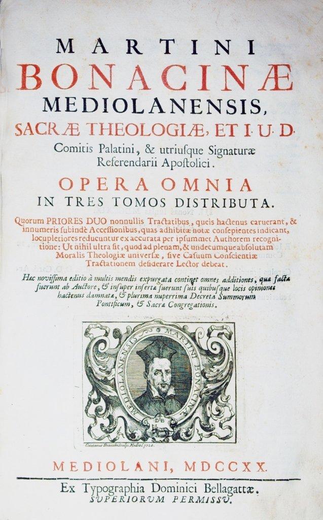 Bonacina, Opera Omnia, 1720