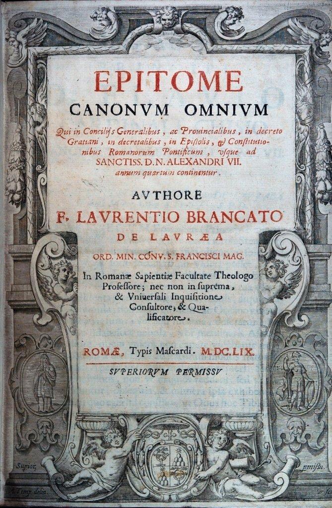 Brancati, Epitome canonum, 1659