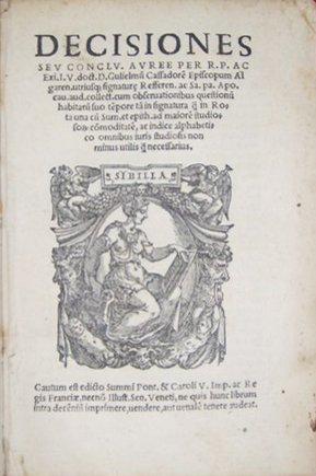 Cassadorus, Decisiones sive Conclusiones Auree, 1544