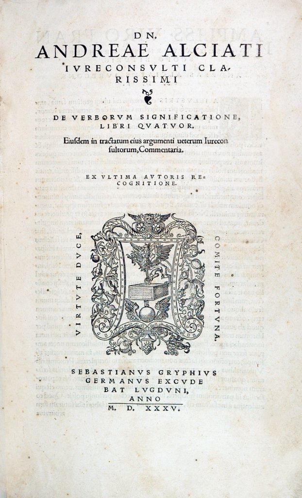 Alciati, Opera, Lyon, 1535, 3 volumes