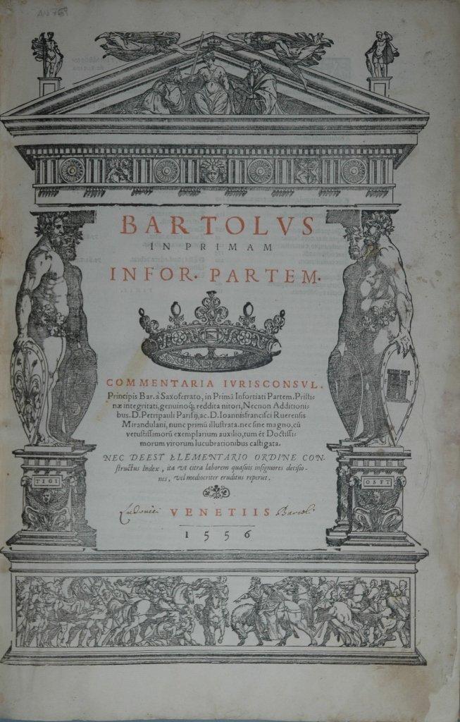 Bartolo da Sassoferrato, Opera Omnia, 1557, 11 vols