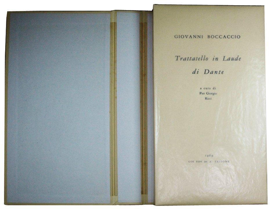 (Tallone) Boccaccio, Trattatello in laude di Dante 1969