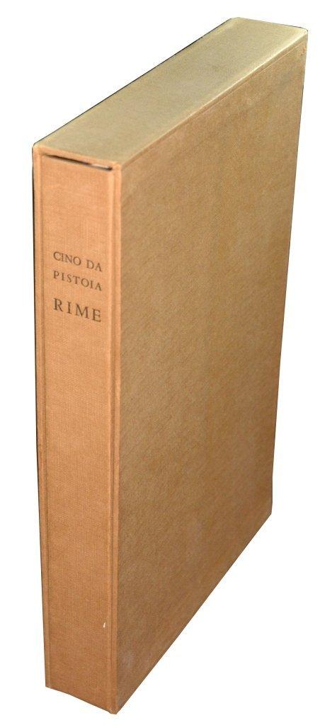 (Tallone) Cino da Pistoia, Rime, 1948