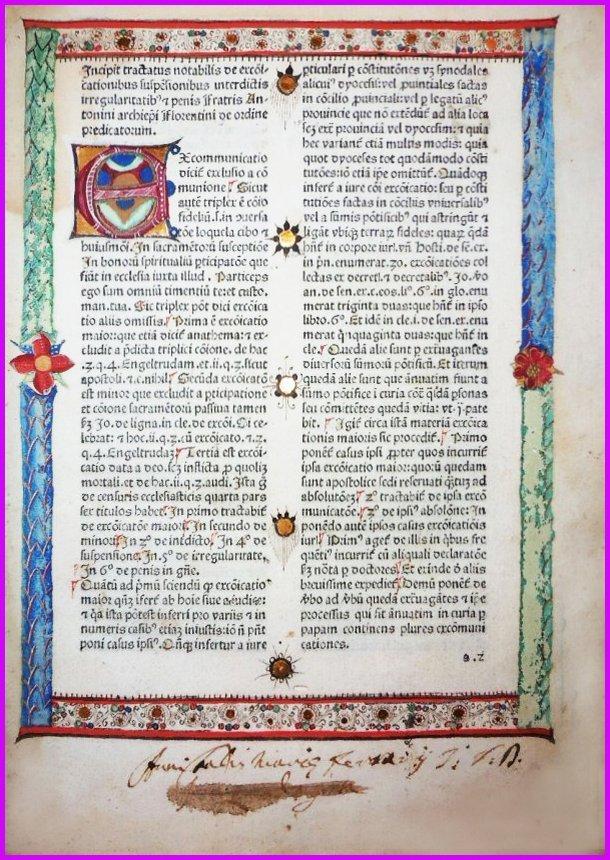 (Incunable) Antoninus Florentinus, 1474
