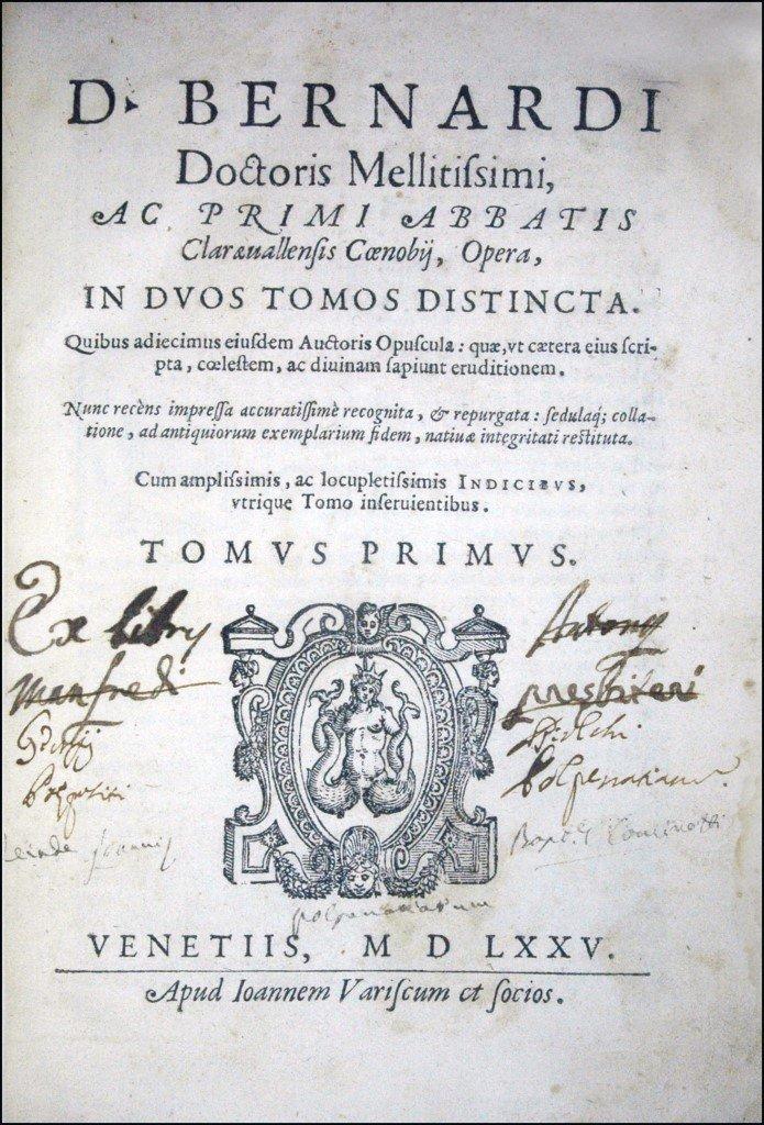[Not in USA, Knights Templar] Bernard of Clairvaux 1575