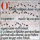 Liturgy Antiphonary Giant Bifolium Italy XV century