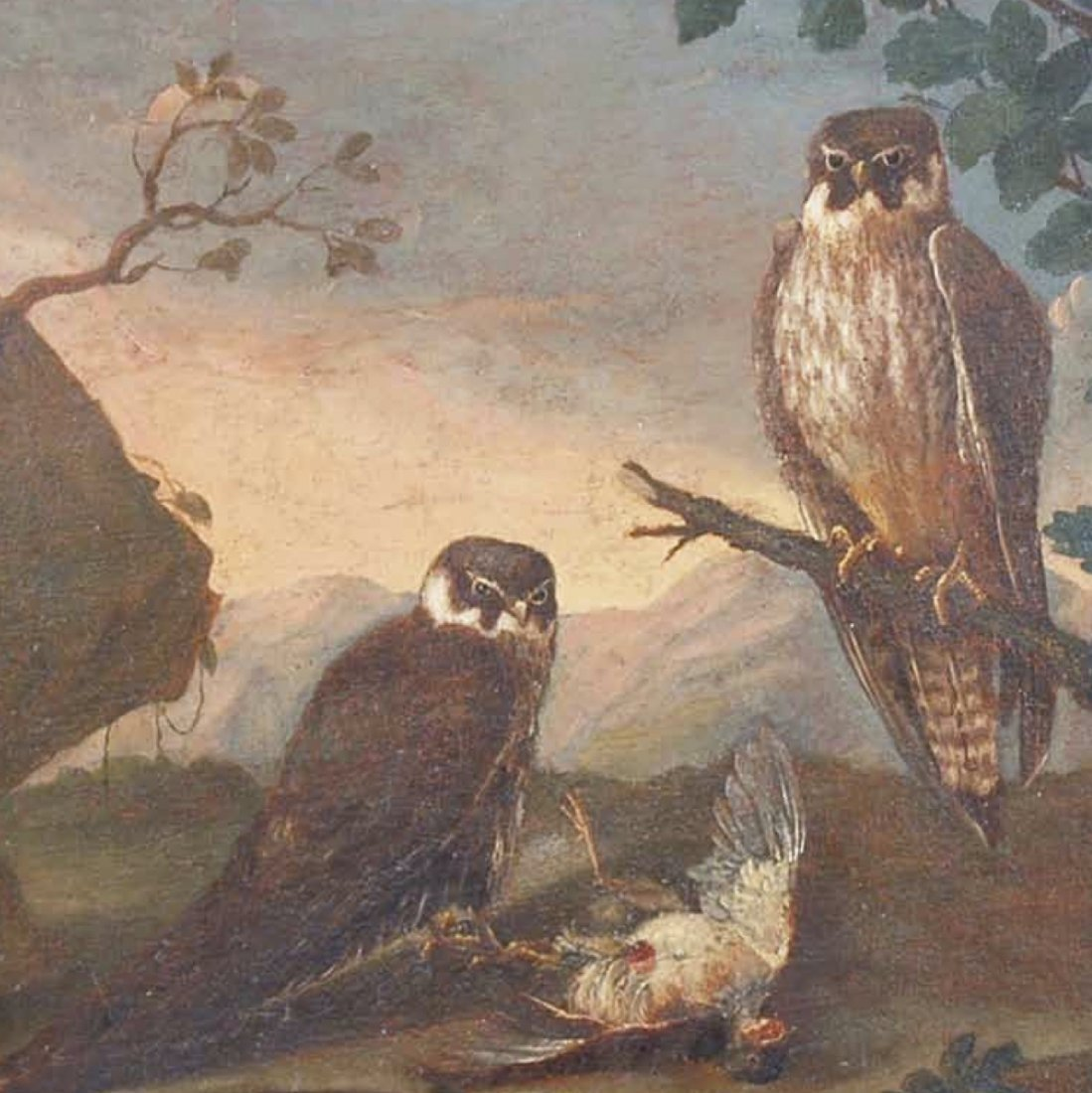 Neapolitan School, Still Life with Falcons