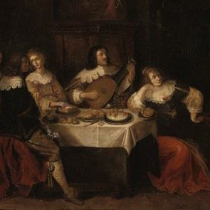 Palamedesz, Elegant company merrymaking, 17th century