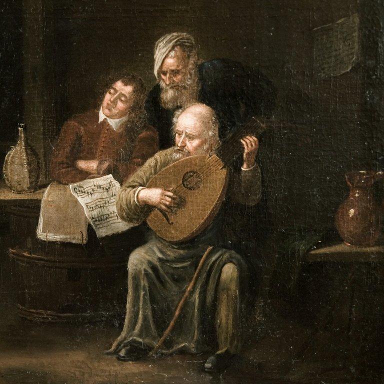 Circle of David Teniers II, Musicians in an interior
