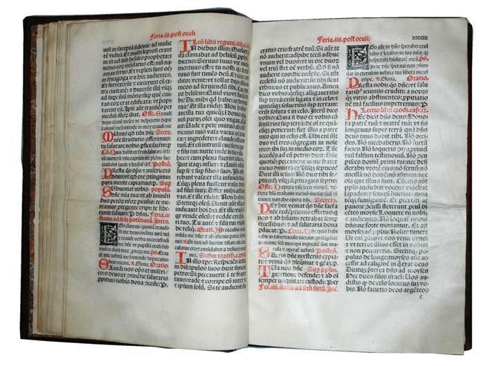 Missale, 1498, printed on vellum