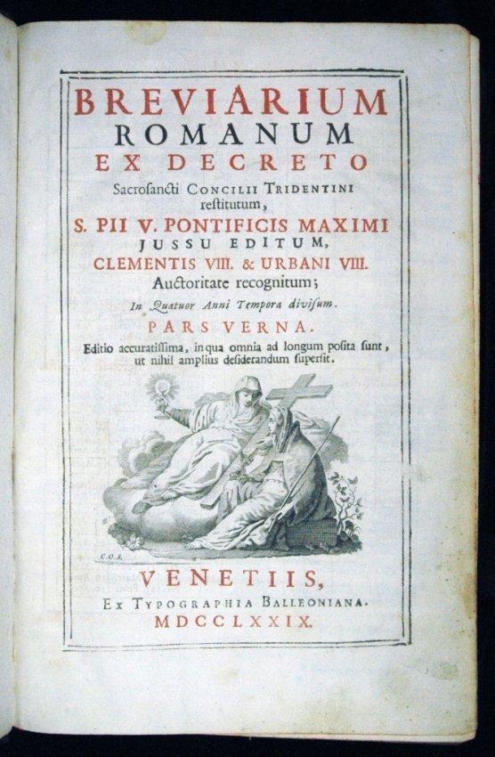 [Breviary] Breviarium Romanum, 1779 - 3