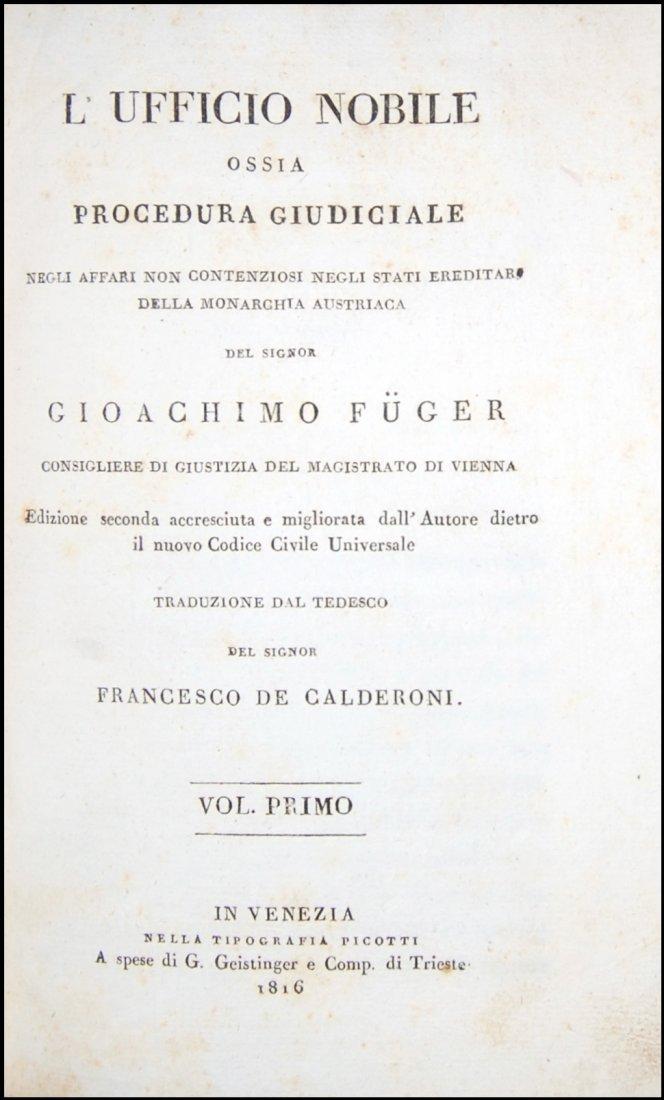[Austria, Civil Code, Procedure] Fuger, 1816