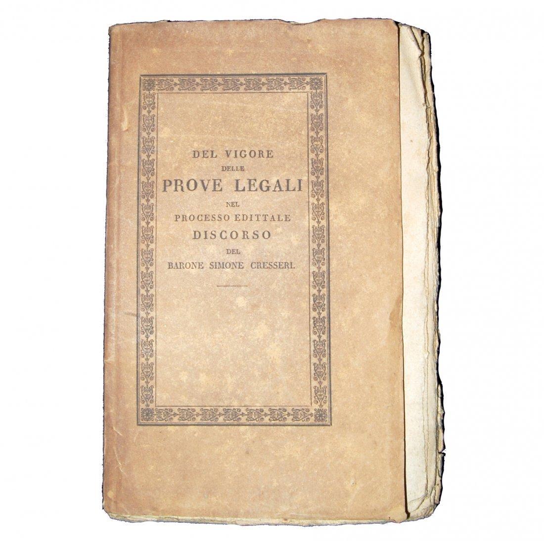 [Austria, Civil Code] Cresseri, Prove legali, 1825