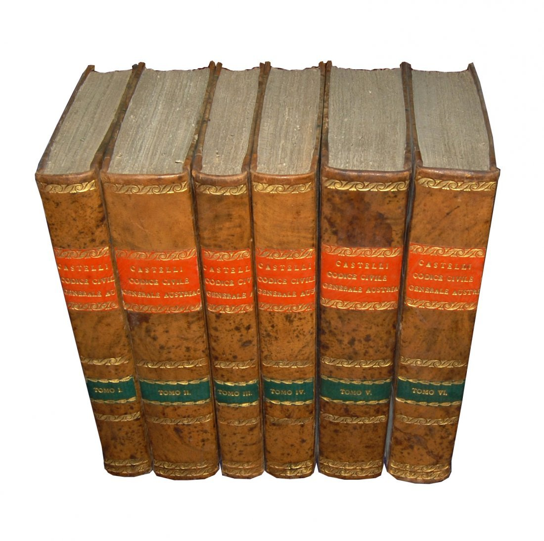 [Austrian Code and Roman Law] Castelli, 1831-32, 6 vols