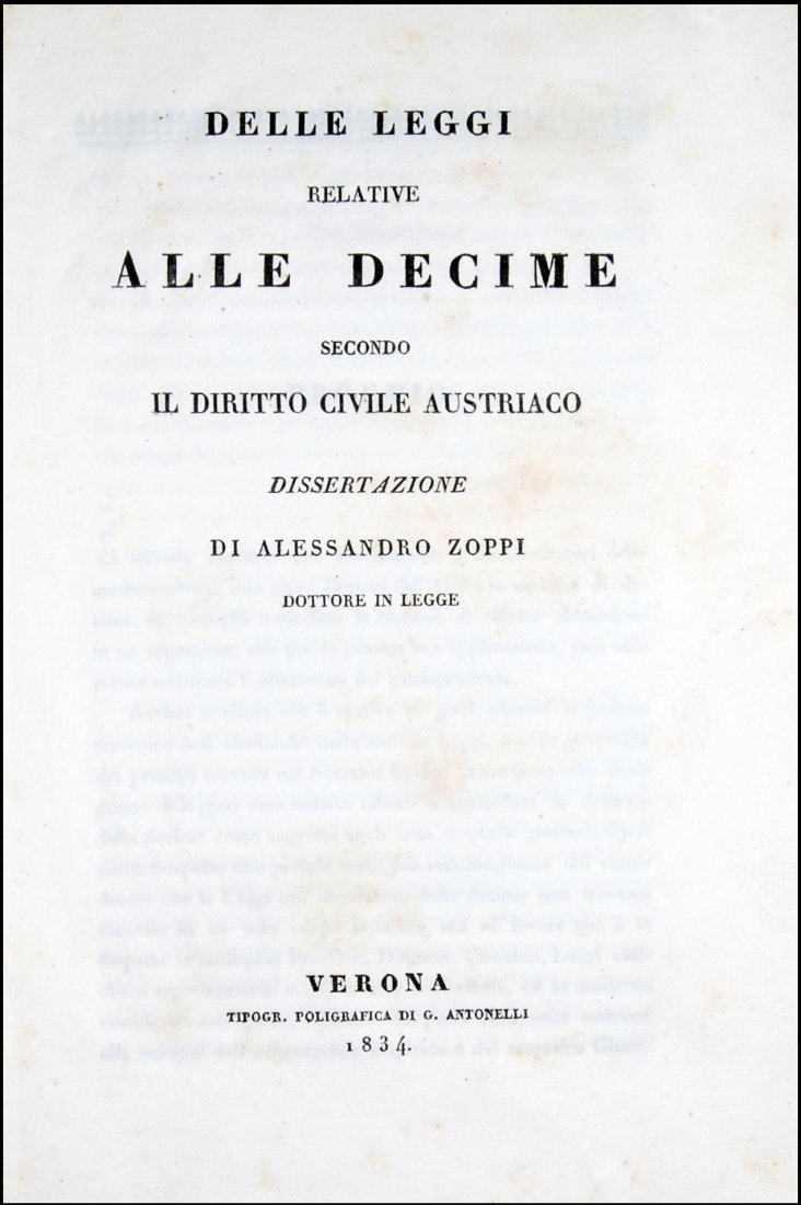 [Austria, Civil Code, Tithes] Zoppi, 1834