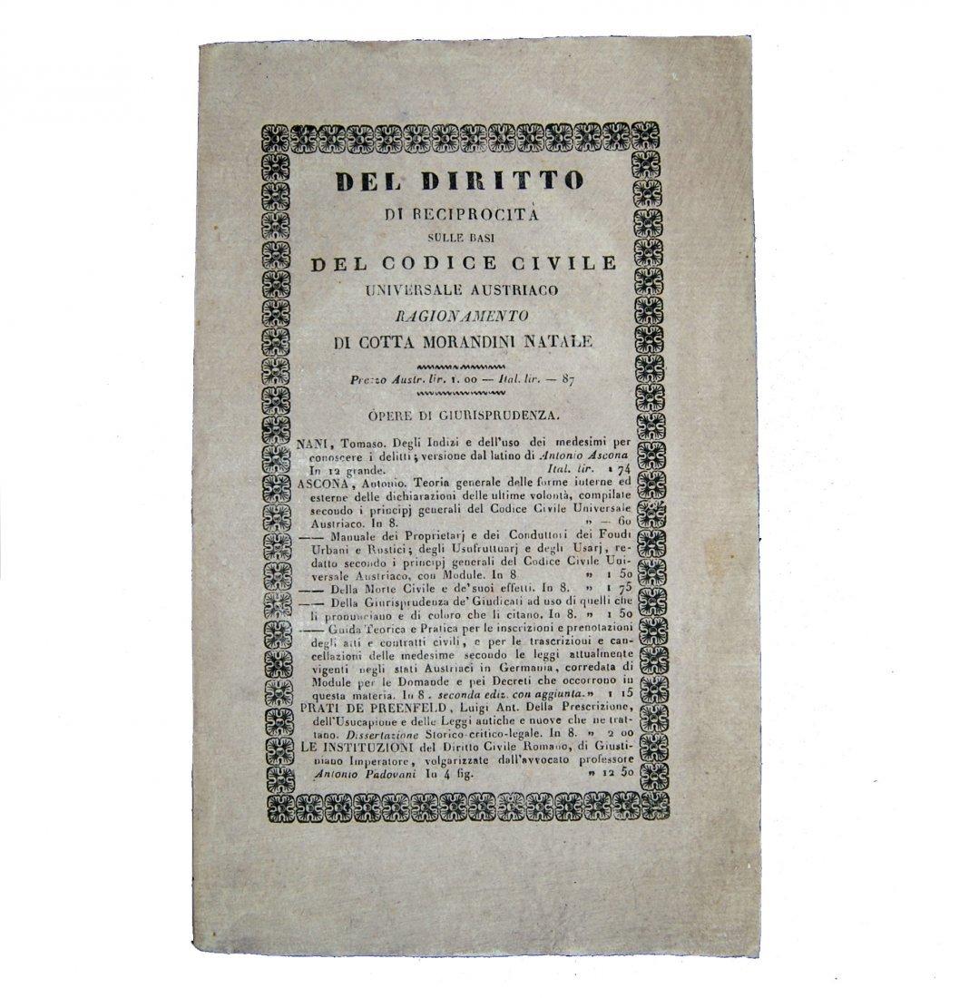 [Austria, Civil Code, Reciprocity] Cotta Morandini 1835
