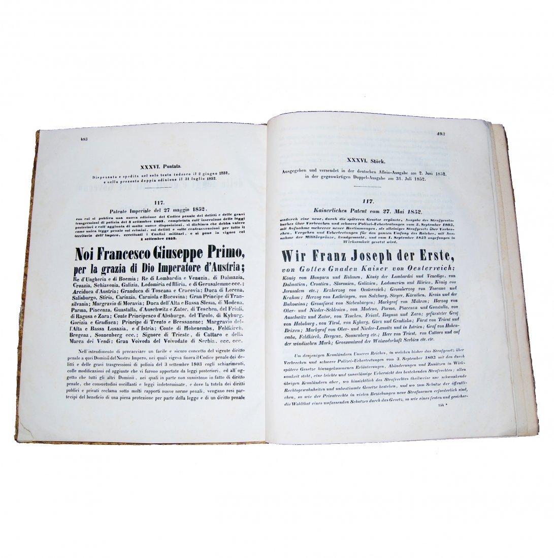[Austria, Civil Law, Government] Bulletin, 1852