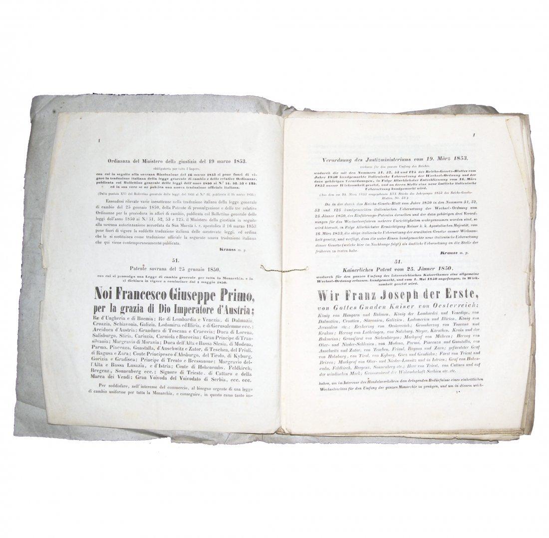 [Austria, Civil Law, Exchange Law] Ordinanza, 1853