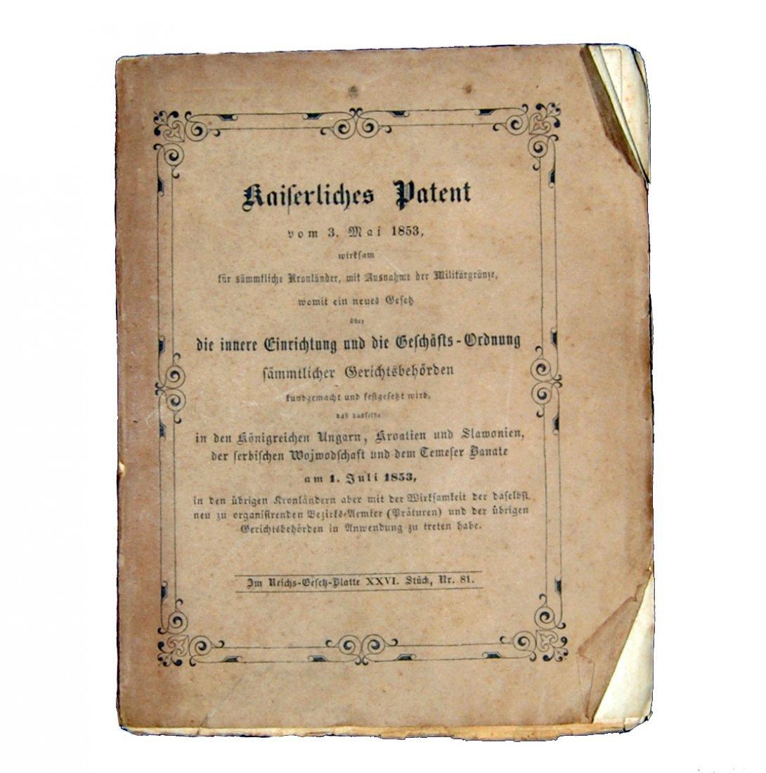 [Austria, Civil Law] Kaiserliches Patent, 1855