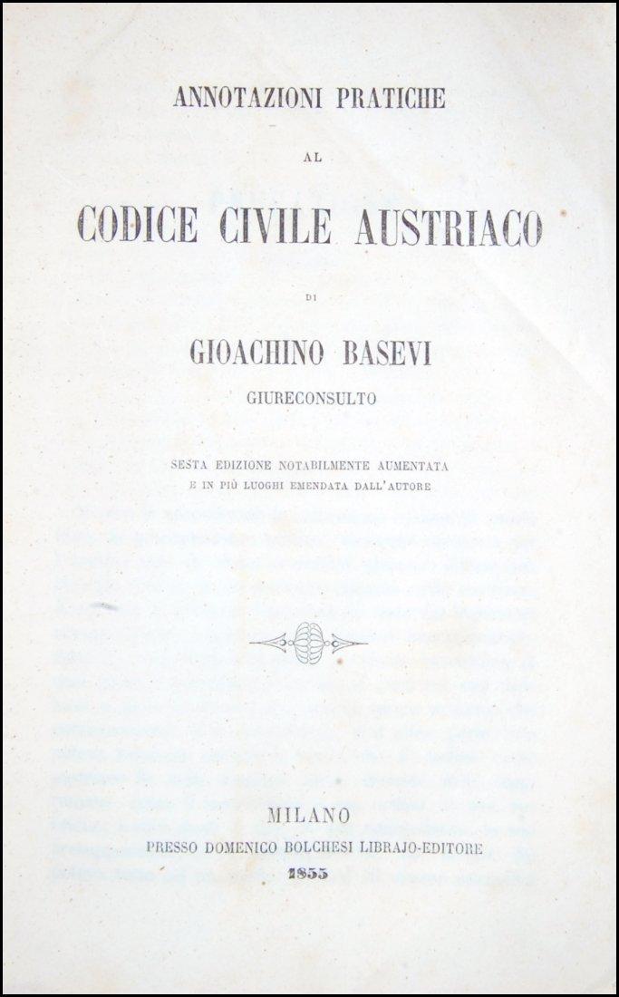 [Austria, Civil Code] Basevi,  Annotazioni, 1855