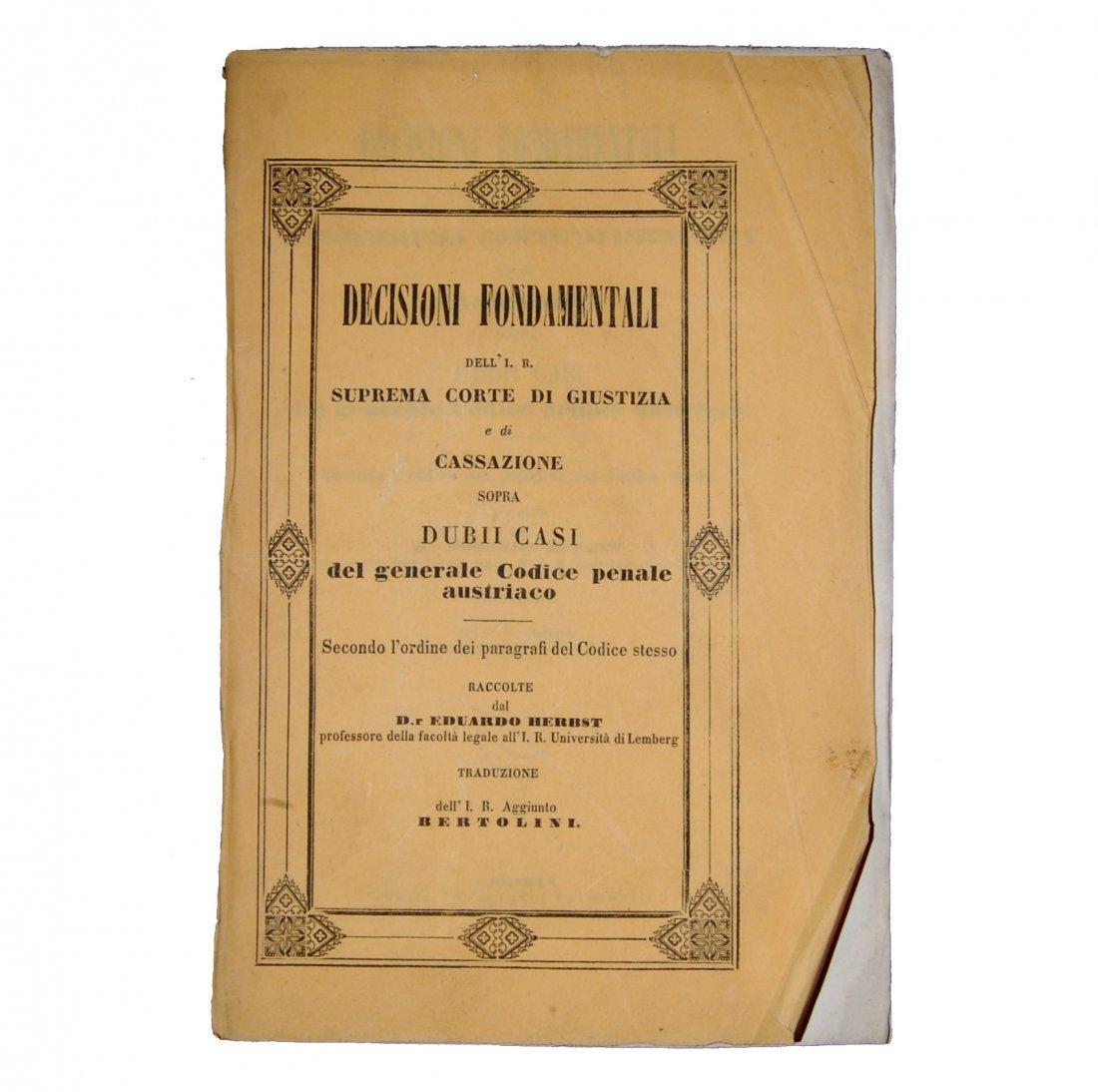 [Austria, Civil Code, Trials] 1820-54, 3 vols