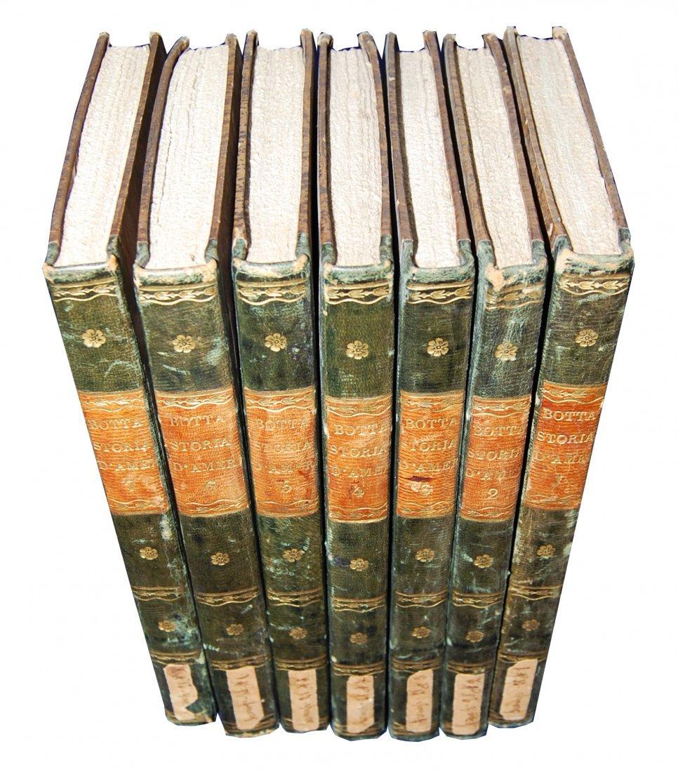 [America, Indipendence War] Botta, 1825-26, 7 vols