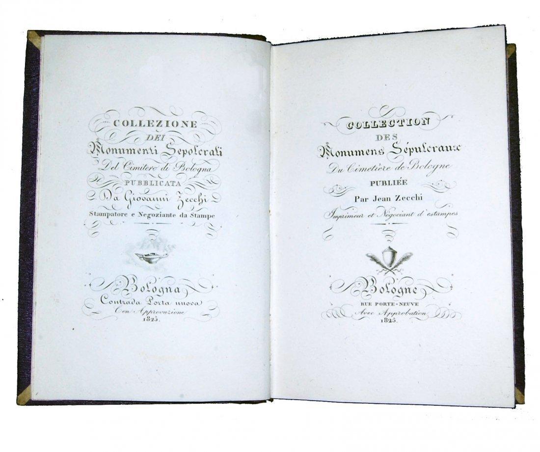 [Bologna, Sepulchral Monuments] Zecchi, 1825, 2 vols