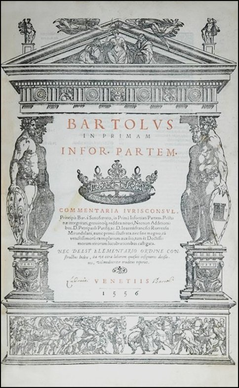 [Foundation of Modern Law] Bartolo, 1557, 9 vols