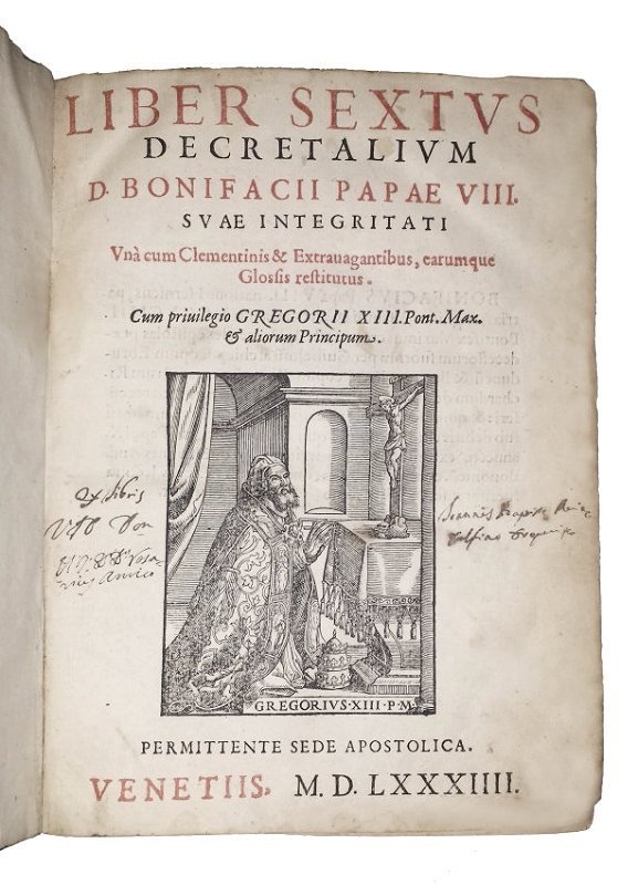 [Canon Law, Sources] Boniface VIII & others 1584, 3 vol