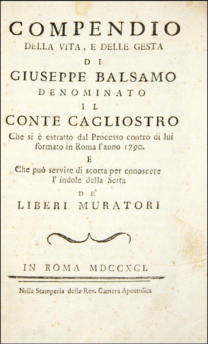 [Freemasonry] Barberi, Conte di Cagliostro, 1791