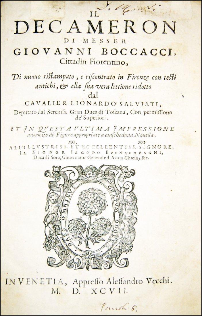 [Novellas] Boccaccio, Decameron, 1597-1799, 2 works