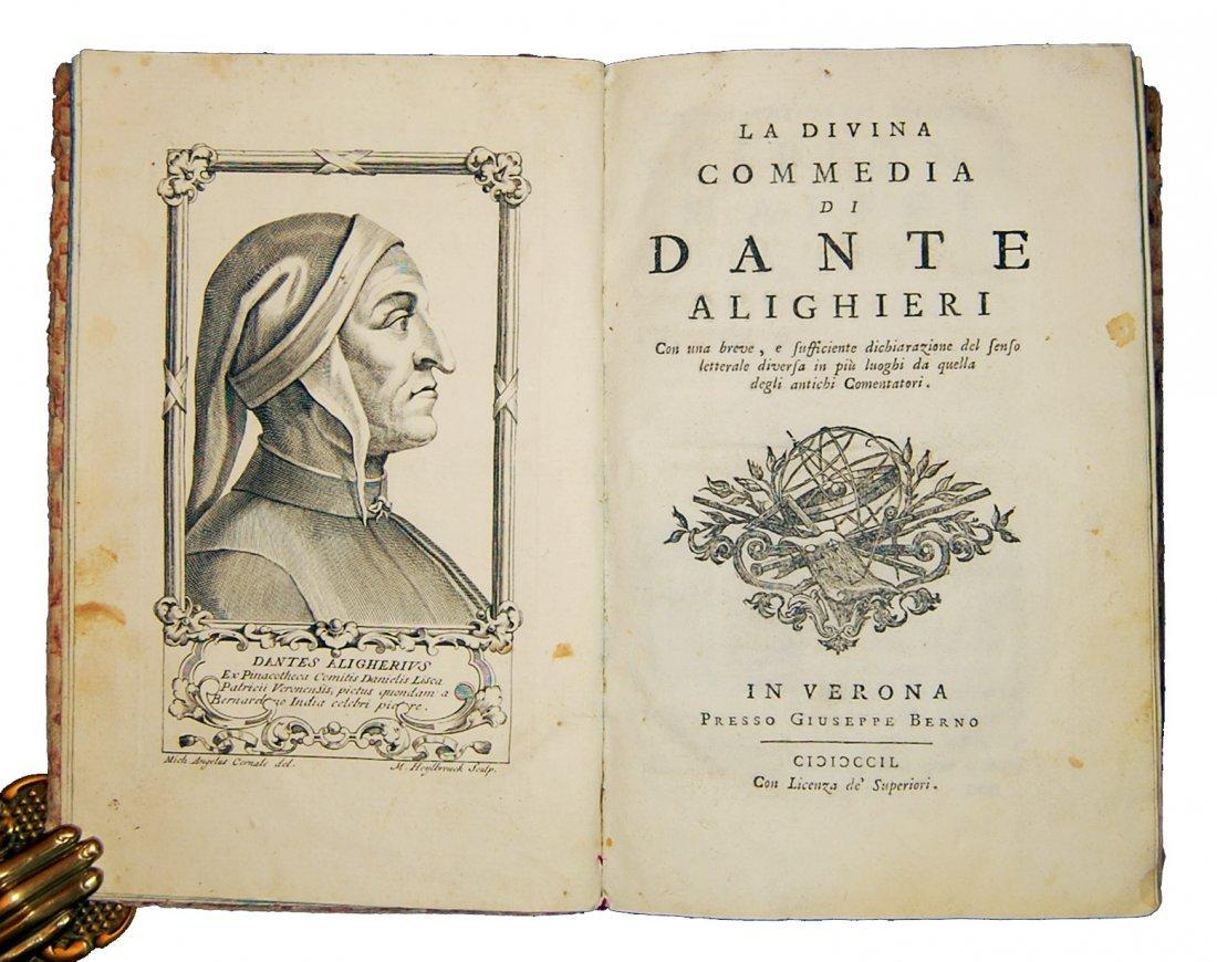 [Poetry, Divine Comedy] Dante, 1749, 3 vols