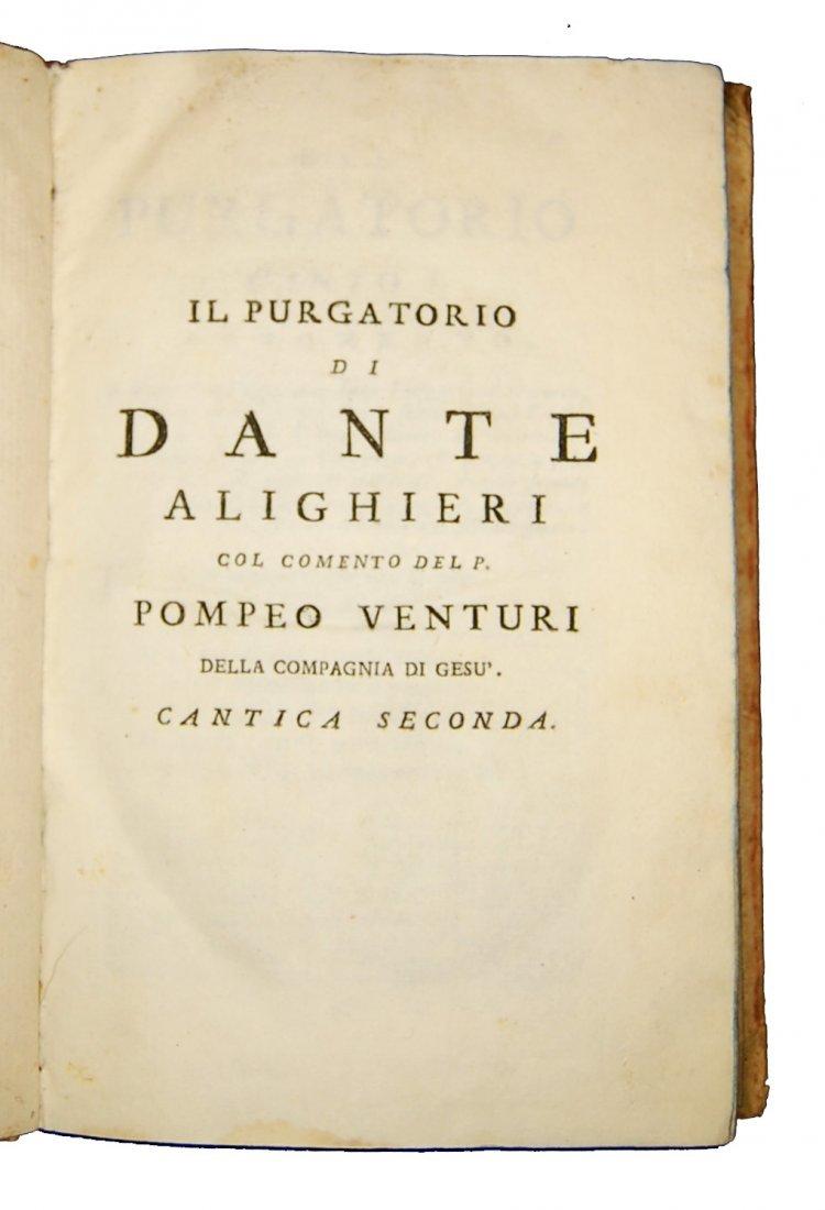 [Poetry, Divine Comedy] Dante, 1749, 3 vols - 5