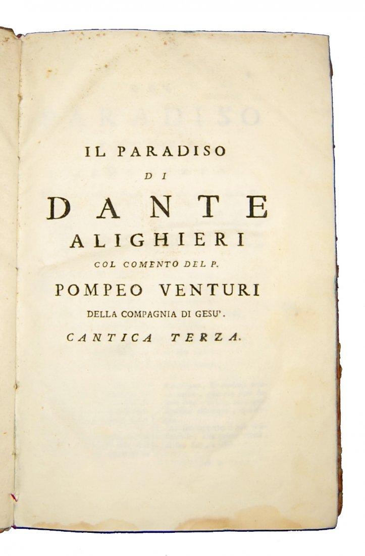 [Poetry, Divine Comedy] Dante, 1749, 3 vols - 7