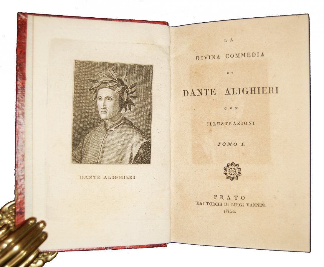 [Poetry, Divine Comedy] Dante, Prato, 1822, 3 vols