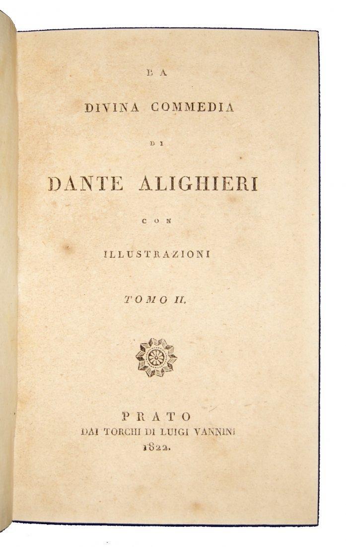 [Poetry, Divine Comedy] Dante, Prato, 1822, 3 vols - 4