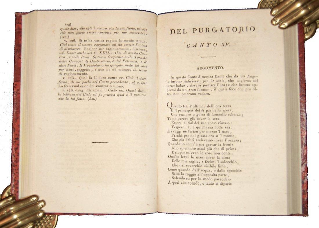 [Poetry, Divine Comedy] Dante, Prato, 1822, 3 vols - 5