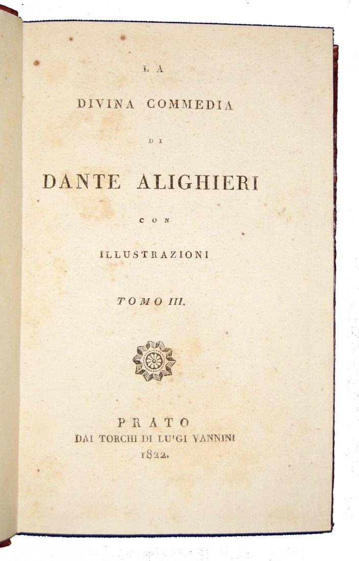 [Poetry, Divine Comedy] Dante, Prato, 1822, 3 vols - 6