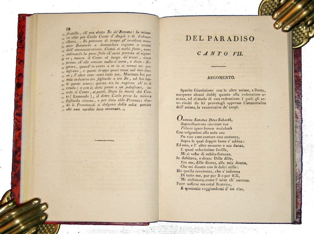 [Poetry, Divine Comedy] Dante, Prato, 1822, 3 vols - 7