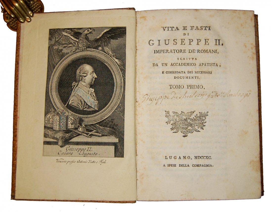 [Biographies, Austria] Vita di Giuseppe II, 1790 4 vols