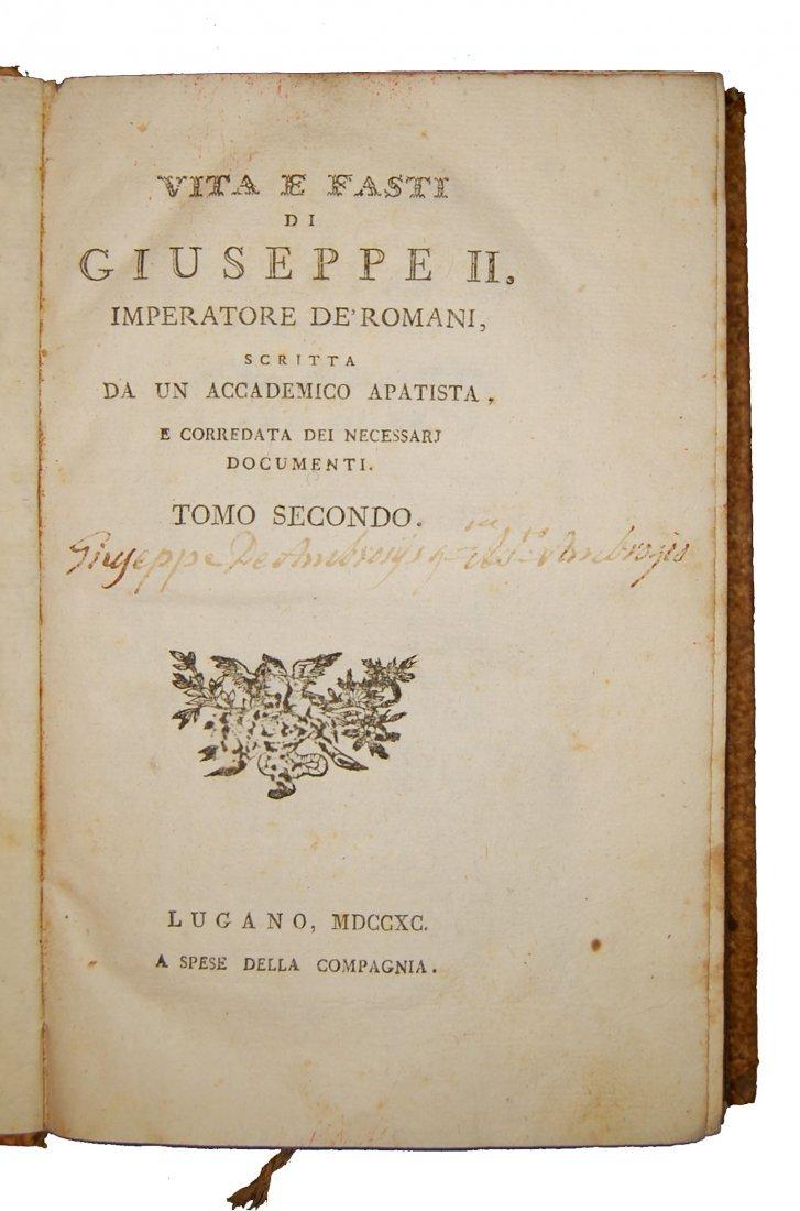 [Biographies, Austria] Vita di Giuseppe II, 1790 4 vols - 4