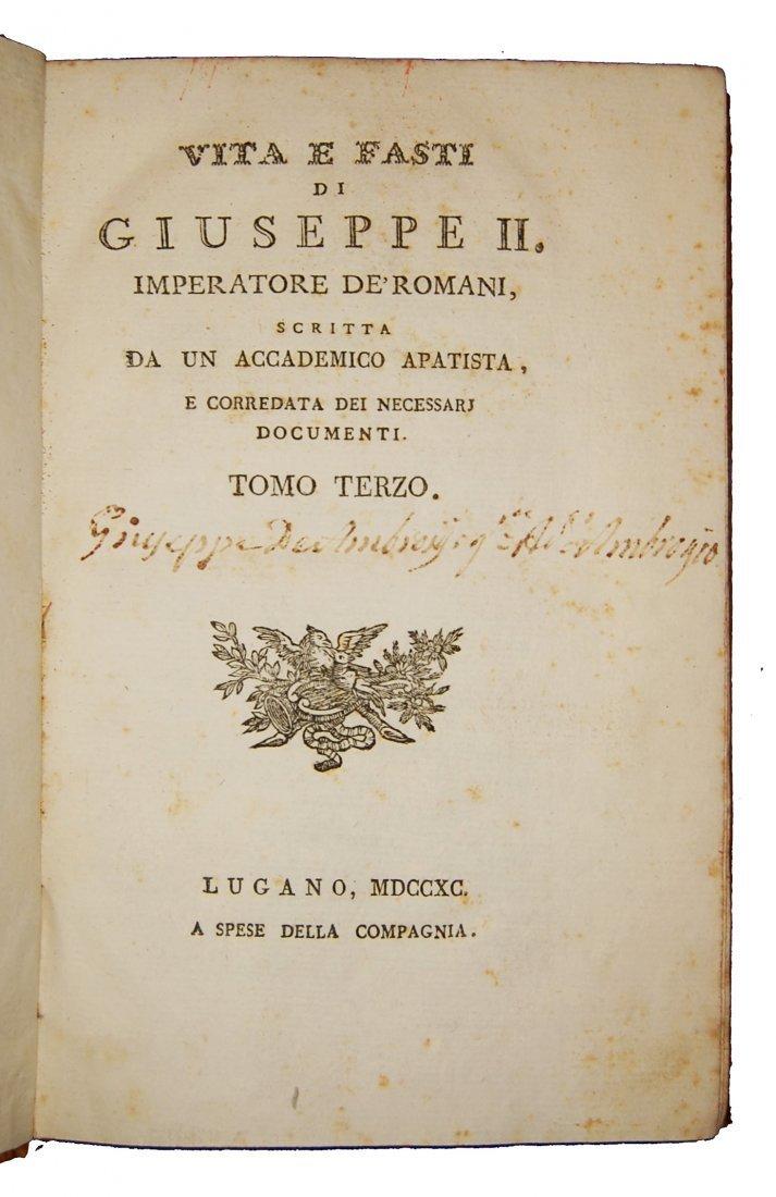 [Biographies, Austria] Vita di Giuseppe II, 1790 4 vols - 6