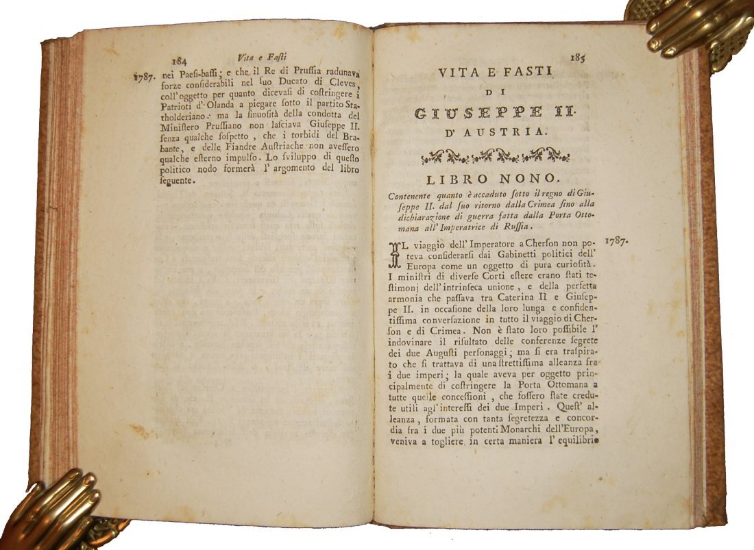 [Biographies, Austria] Vita di Giuseppe II, 1790 4 vols - 7