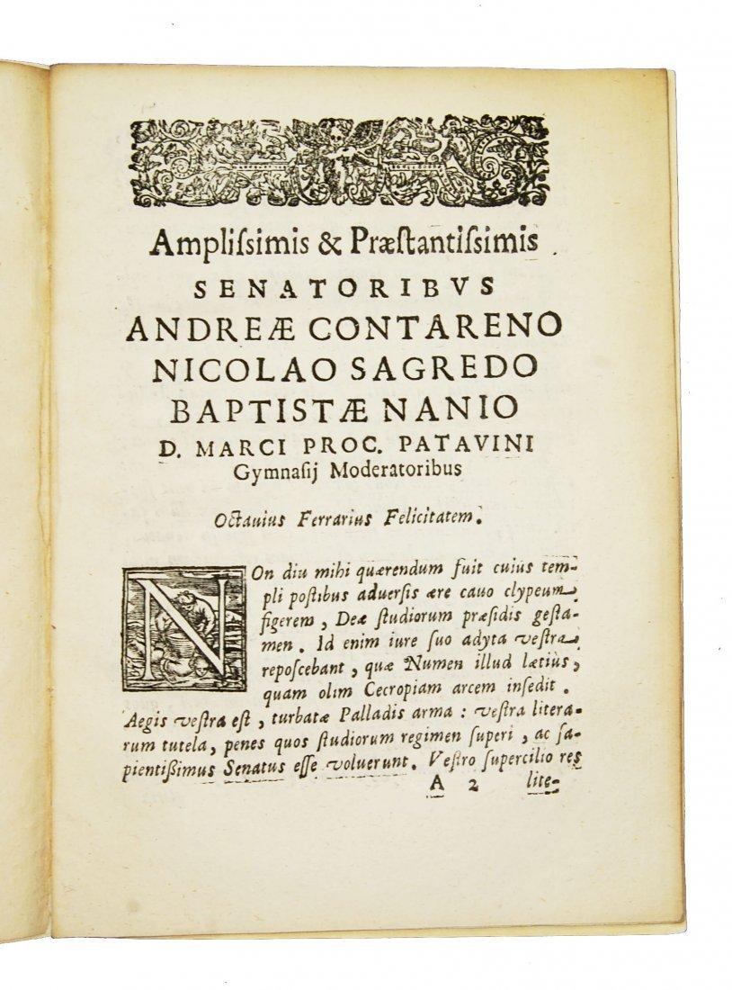 [Minerva, Roman Deity] Ferrari, Prolusio 31 & 32, 1674 - 2