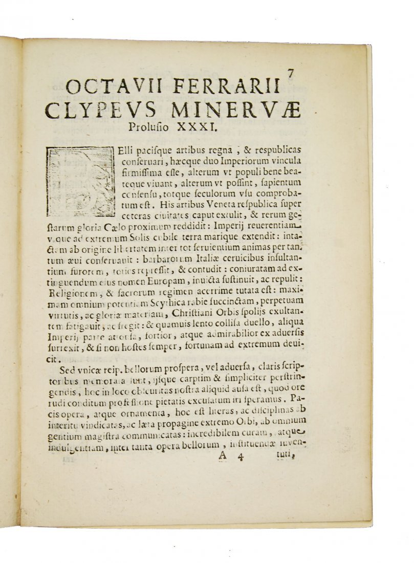[Minerva, Roman Deity] Ferrari, Prolusio 31 & 32, 1674 - 3