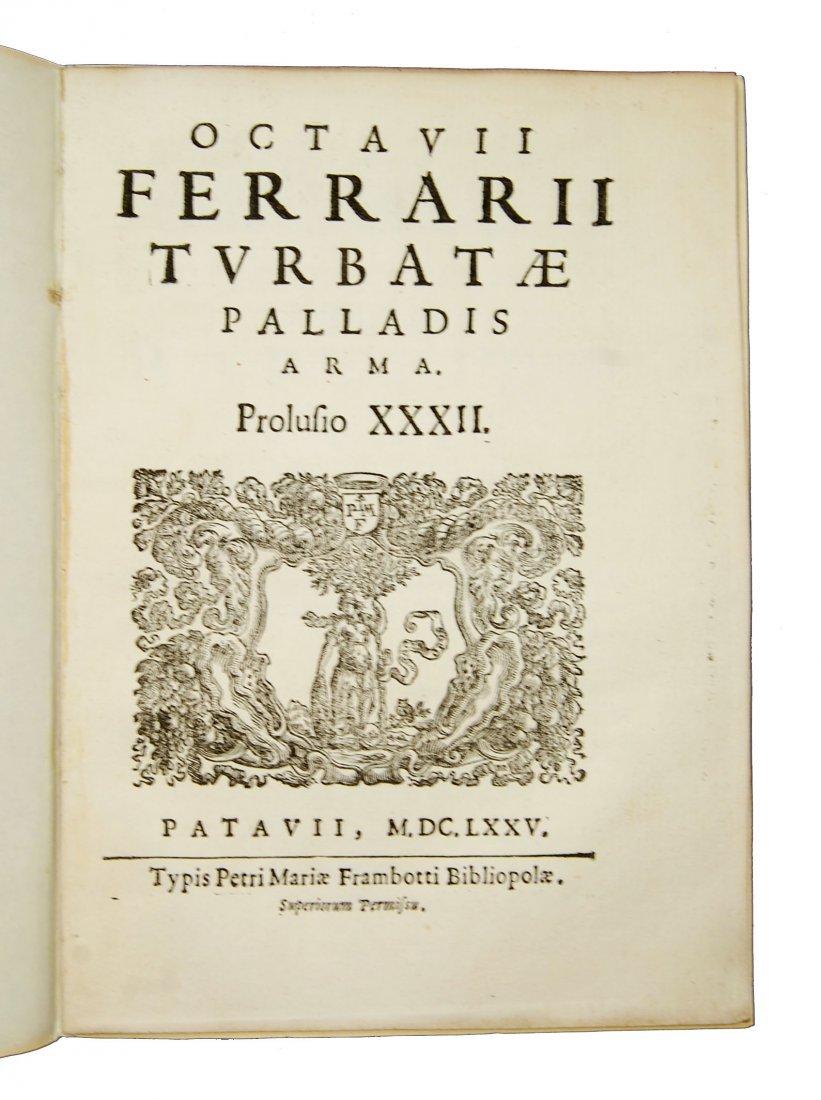 [Minerva, Roman Deity] Ferrari, Prolusio 31 & 32, 1674 - 5