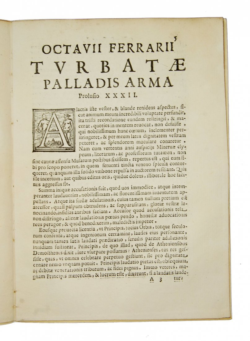 [Minerva, Roman Deity] Ferrari, Prolusio 31 & 32, 1674 - 7