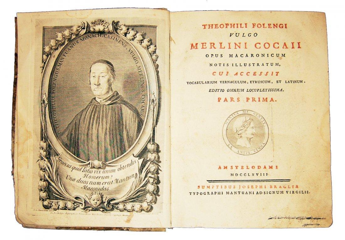 [Poetry] Folengo, Opus macaronicum, 1768-71, 2 v.