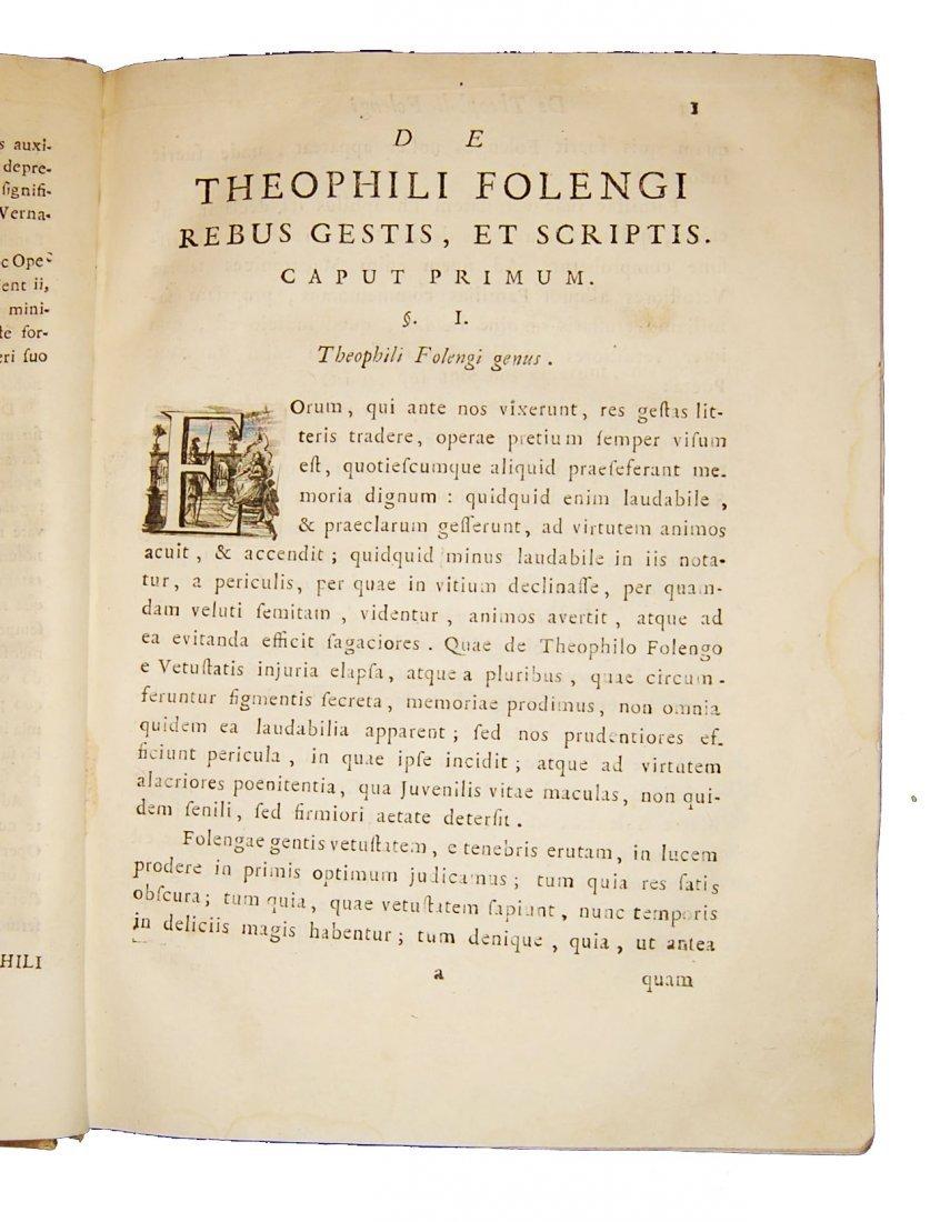 [Poetry] Folengo, Opus macaronicum, 1768-71, 2 v. - 3